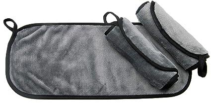 ZOLLNER24 3 toallas desmaquillantes faciales reutilizables, 40x18 cm, lavables