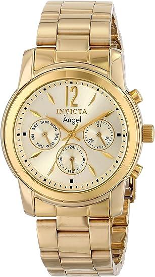 Invicta Women's Angel 38mm Gold Tone Stainless Steel Quartz Watch, Gold (Model: 12551)