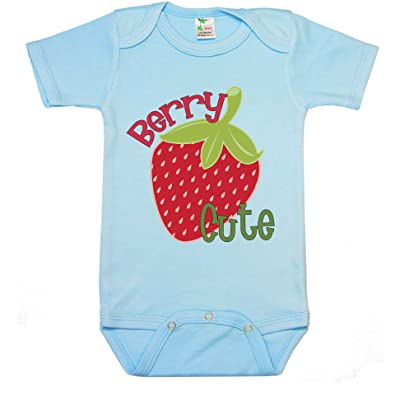 """ Berry cute "" Custom Boutique Baby bodysuit onesie."