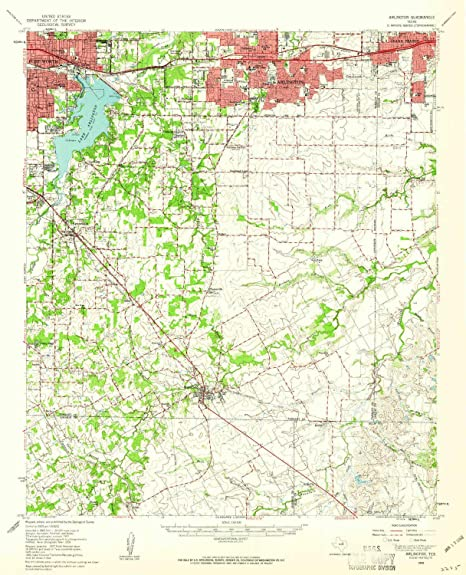 Map Of Texas Arlington.Amazon Com Yellowmaps Arlington Tx Topo Map 1 62500 Scale 15 X