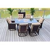 7pc Cast Aluminum Sling Patio Furniture Set