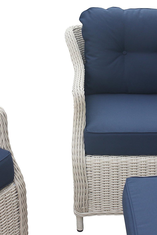 Amazon.de: Rattan Gartenmöbel - Garten Lounge Set - Klassisch ...