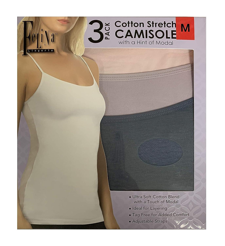 Felina Ladies/' Cotton Stretch 3-Pack Camisole