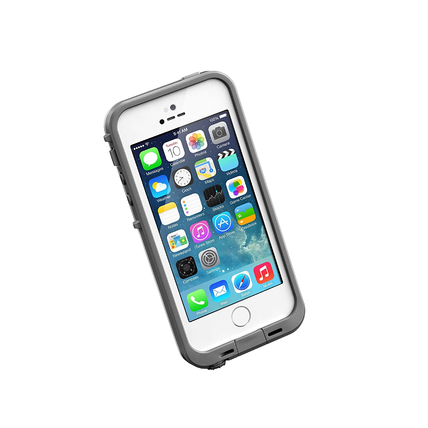 Amazon com lifeproof frē series waterproof case for iphone 5 5s se retail packaging glacier white gunmetal grey discontinued by manufacturer cell