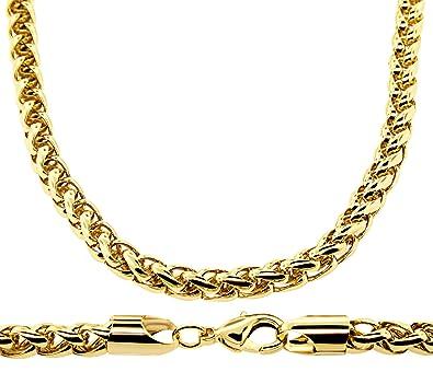 7d1c763666930 Collier homme - plaqué or 24 carats - Chaîne palmier, pur Hip Hop Bling,