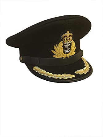 BRAND NEW ROYAL NAVY OFFICER HAT CAP CAPTAIN Size 62 WHITE