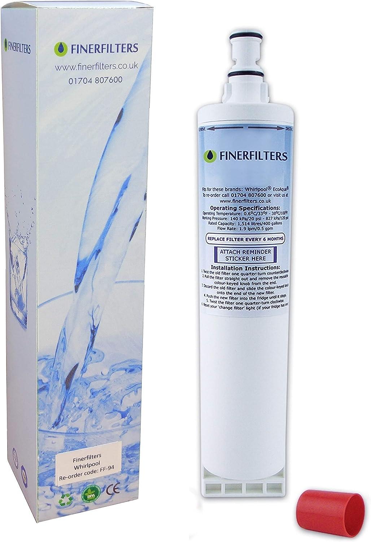 3 interne filtre à eau pour whirlpool réfrigérateur SBS002 S20BRS 4396508 481281729632