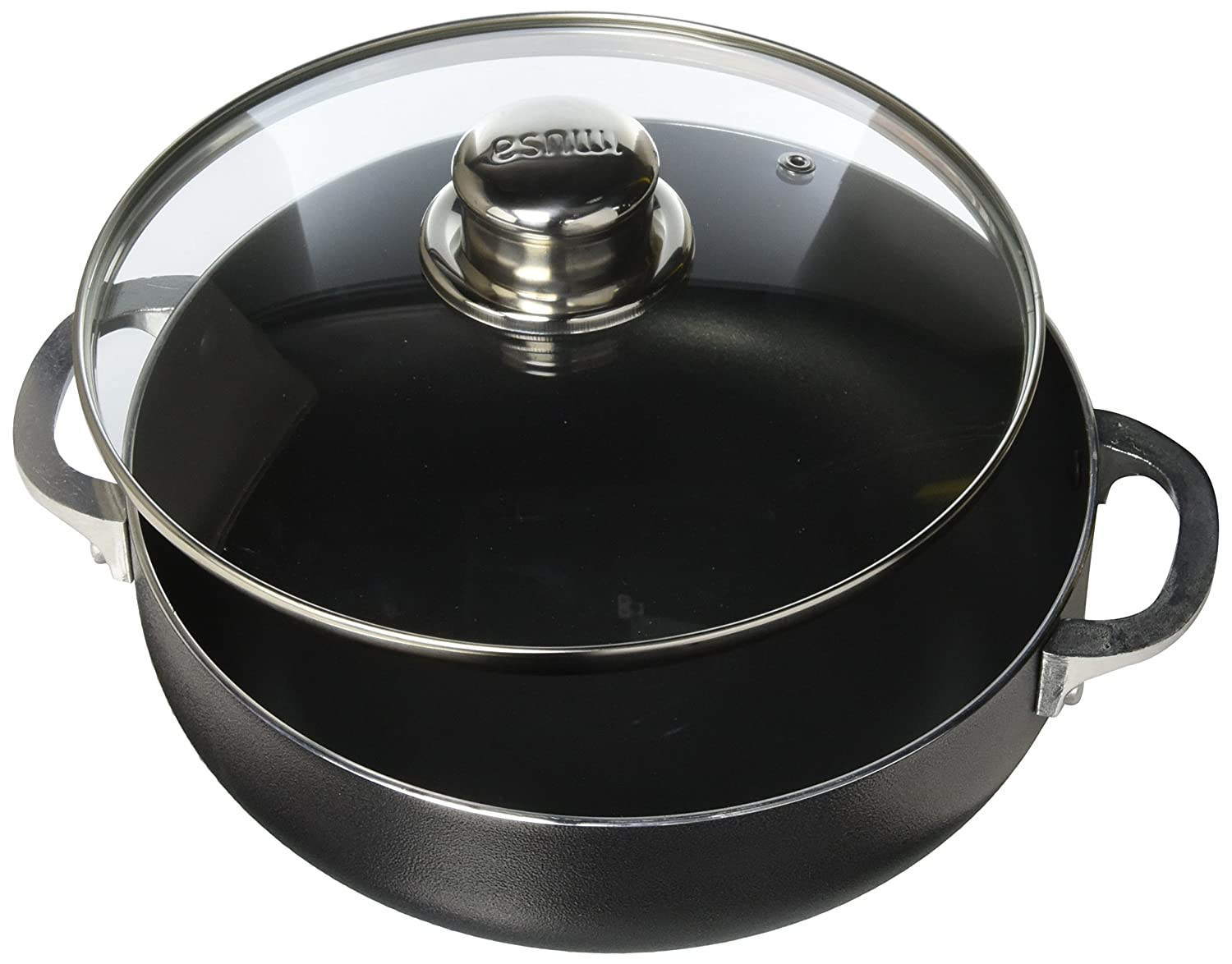IMUSA USA CHI-00084 Nonstick Charcoal Caldero (Dutch Oven) with Glass Lid