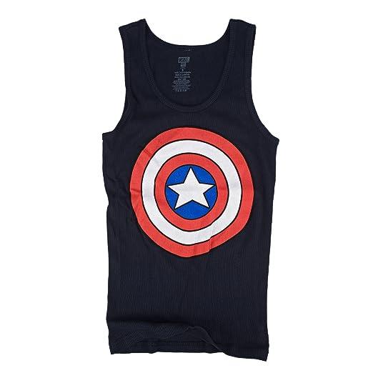 41c5c93220671 Amazon.com  Marvel Captain America Shield Logo Juniors Navy Blue ...