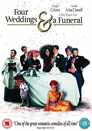 review four weddings and a funeral Four weddings and a funeral in four weddings in a funeral we get befuddled hugh grant others' reviews or ratings.
