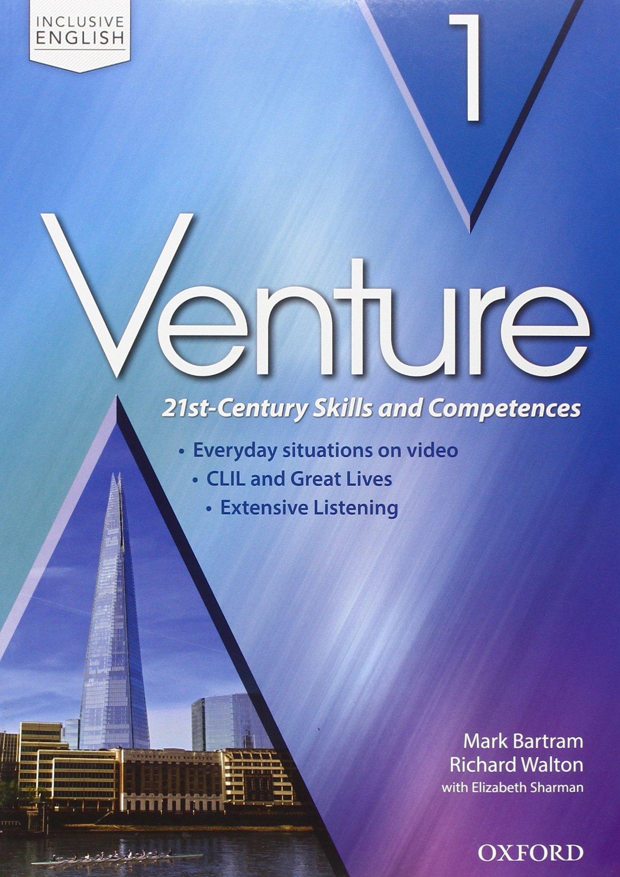 Venture 1, libro d'inglese per le scuole superiori