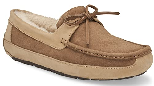 a62b6d1dbf9 Ugg Australia Byron Men US 7 Tan Moccasin Slippers Shoes: Amazon.co ...