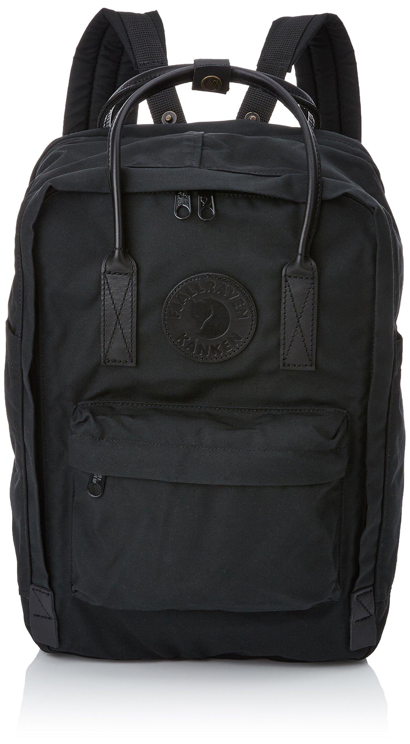 Fjallraven - Kanken No. 2 Laptop 15'', Heritage and Responsibility Since 1960, Black-Black