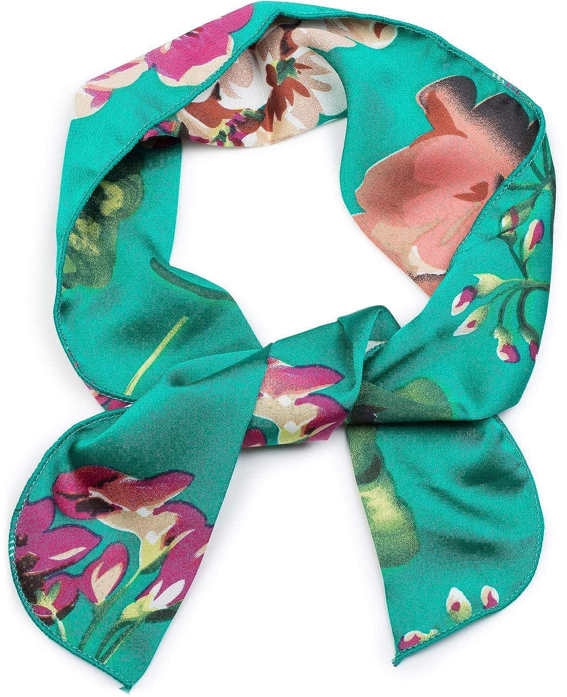 Damen Multifunktionstuch schmal Blumen Haarband Tuch Halstuch Taschenband