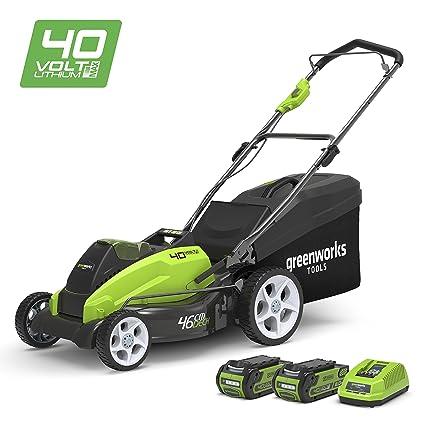 Greenworks 2500107UC Cortacésped Inalámbrico, 40 V, Verde