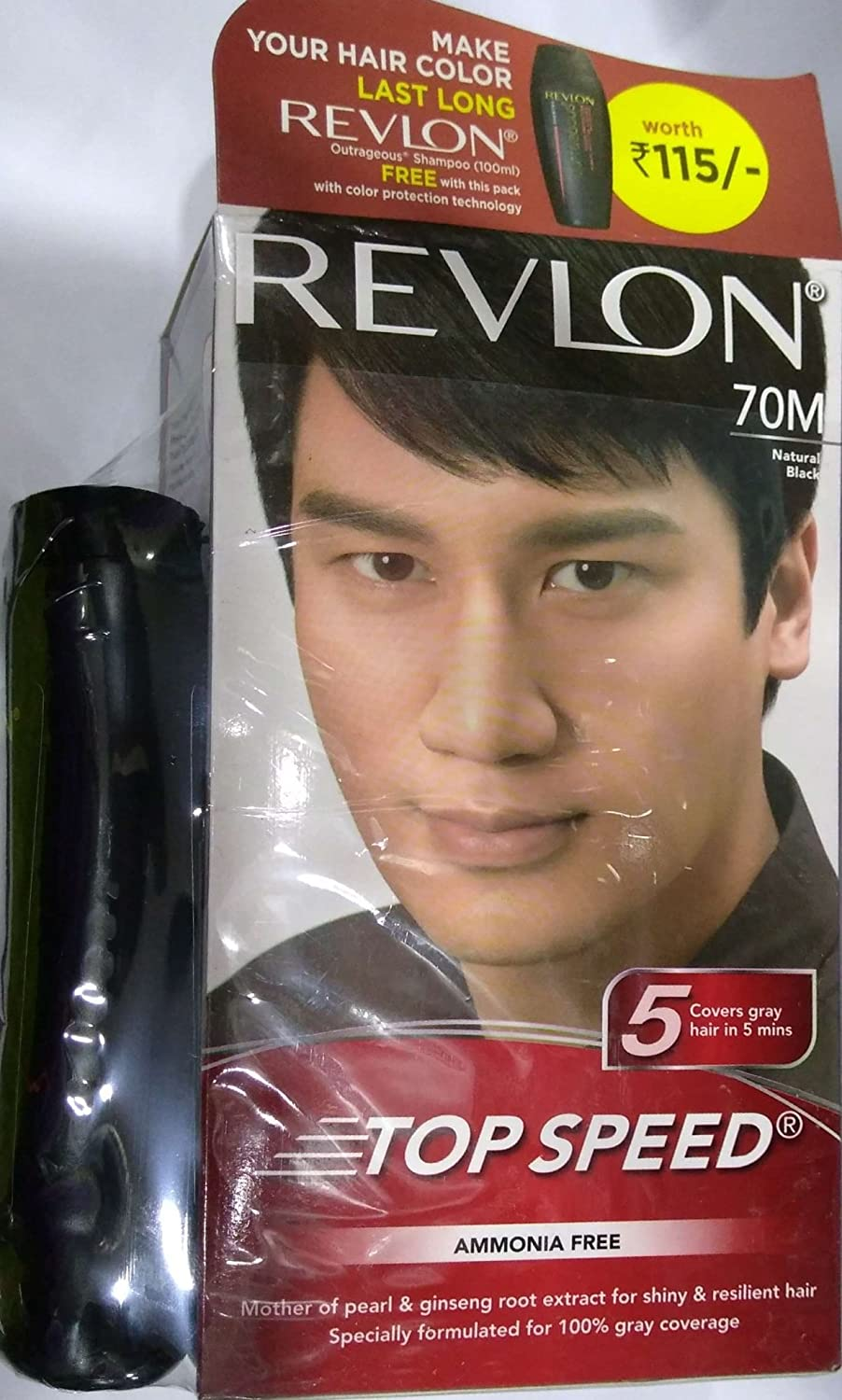 Buy Revlon Top Speed Hair Color For Men Natural Black 100g With