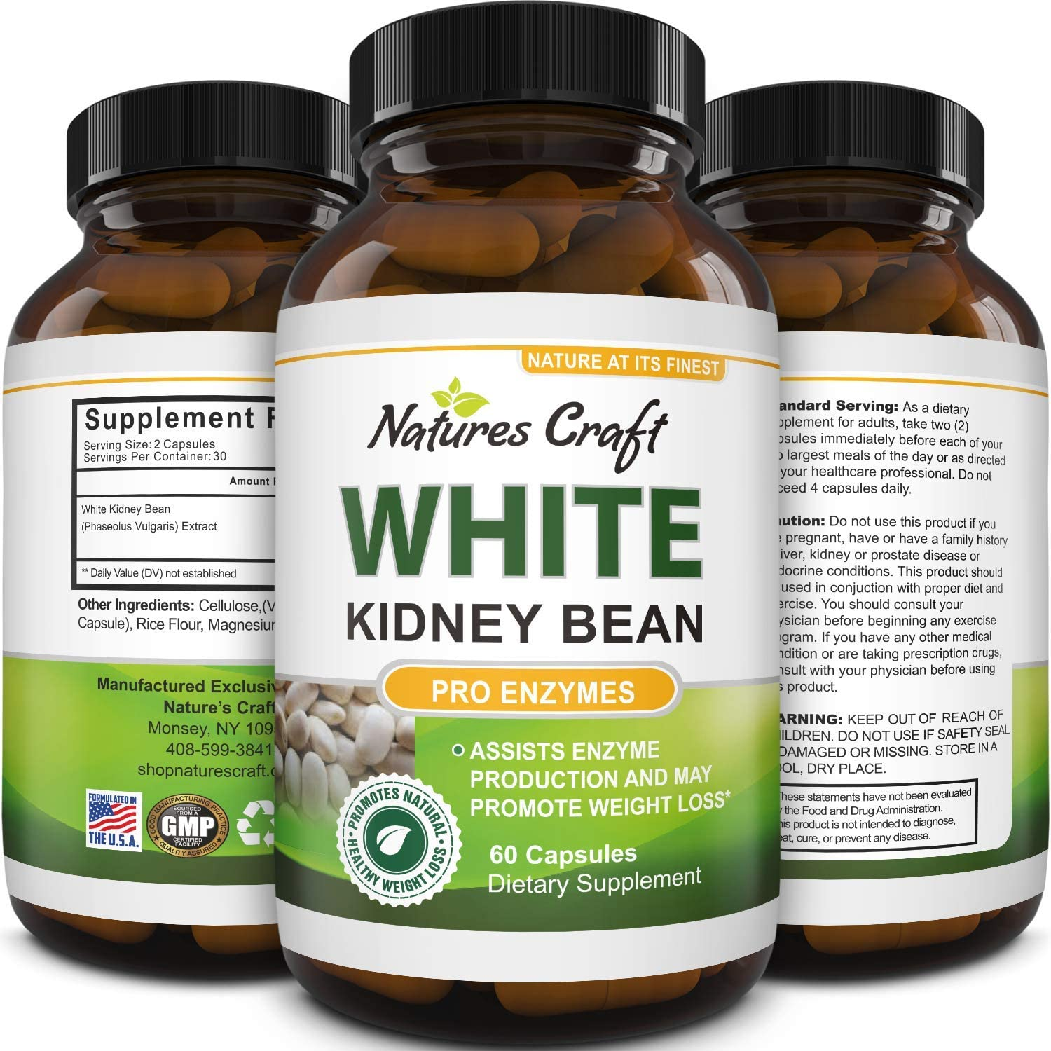 Amazon Com Natural White Kidney Bean Extract White Kidney Bean Energy Booster Ampk Activator And Antioxidant Capsules Digestive Health Dietary Fiber Supplement And Workout Supplement For Men And Women Health