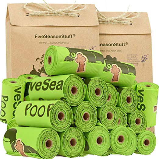 FiveSeasonStuff Leak Proof Bolsas para Excremento de Perro, 100 ...