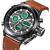 LYMFHCH Big Face Sports Watch for Men,Waterproof, Military Multifunction LED Date Chronograph Wrist Watch