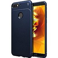 iBetter Coque Honor 7A, [Souple Etui de Protecteur] Nouveau modèle Shock Absorption Coquille arrière Souple, Housse Etui TPU Silicone Coque en Silicone pour Honor 7A Smartphone(Bleu)