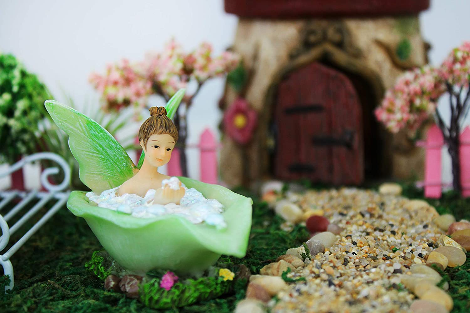 Merveilleux Amazon.com: NW Wholesaler   Fairy Garden Fairy Figurines Hand Painted  Miniature Fairies (Bath Fairy): Garden U0026 Outdoor