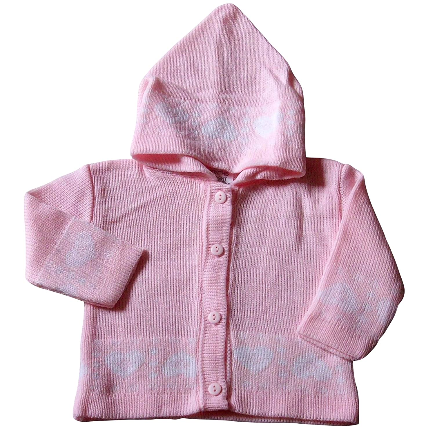 a7c87ac5f 6-9 months - Baby Girls Cardigan - Beautiful Pink and White LOVE ...