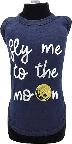 Azzurro Trilly Tutti Brilli T-Shirt per Cani S//M