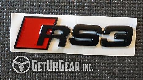 GetUrGear Audi Rear / Side Badge Emblem (RS3, RS3 Rear Emblem)