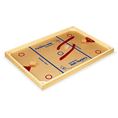 Amazon.com : Carrom 2.01 Champion Nok-Hockey Game, Standard : Board Games : Sports & Outdoors