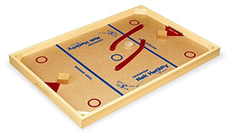 Indoor Games Carrom Model 2 Champion Nok-hockey Game Standard Wooden Table Top 2 Sticks Puck