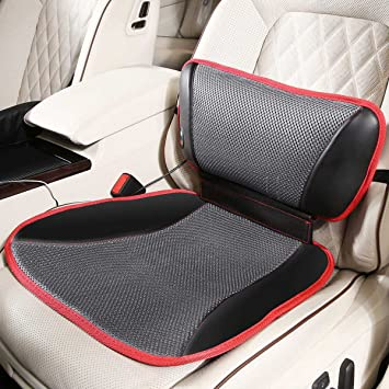 VIKTOR JURGEN Car Seat Cushion And Back Pain Relief Backrest Red