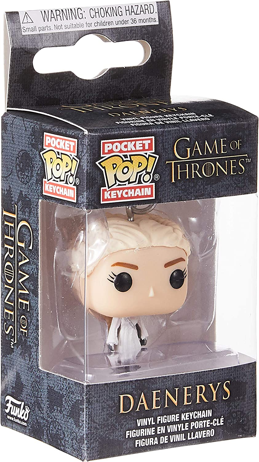 Funko Pop Keychain: Game of Thrones - Daenerys (White Coat) Collectible Figure, Multicolor