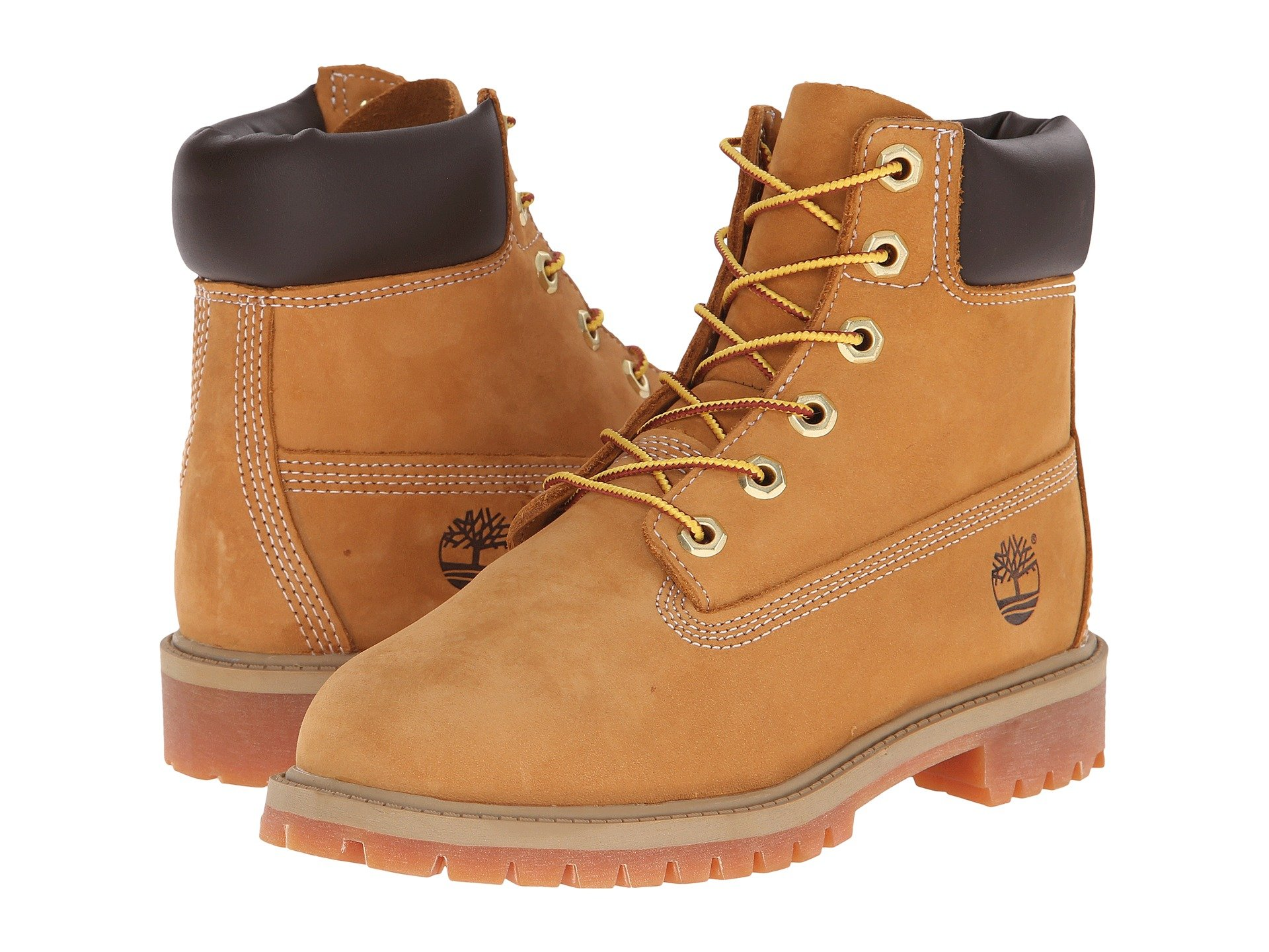 Timberland 6'' Premium Waterproof Boot (Toddler/Little Kid/Big Kid) (3.5 M US BIG KID, Original Wheat)