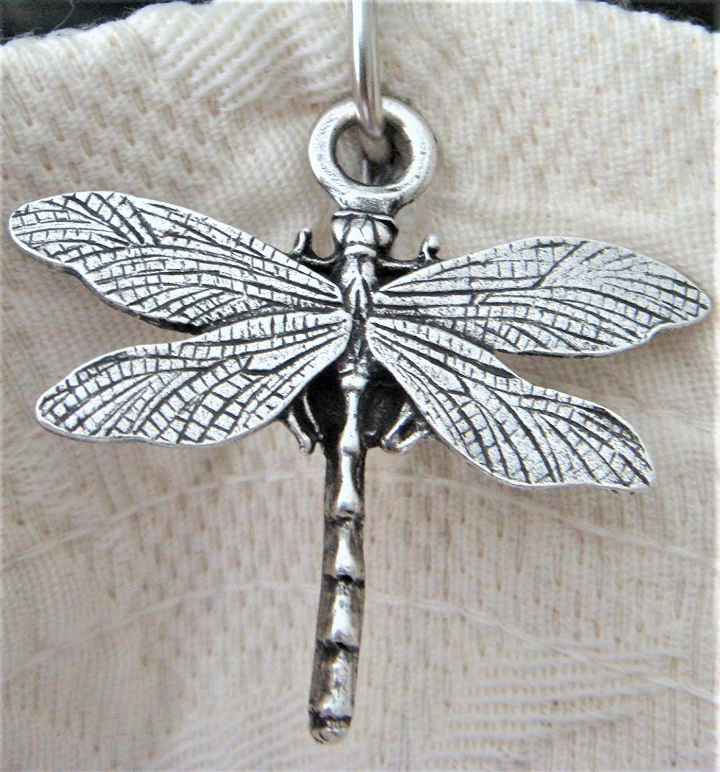 Norma Jean Designs 12 Dragonfly Shower Hook Add-on - Antique Silver Electroplate Finish Free roller bead chrome Shower Curtain Hooks with Purchase