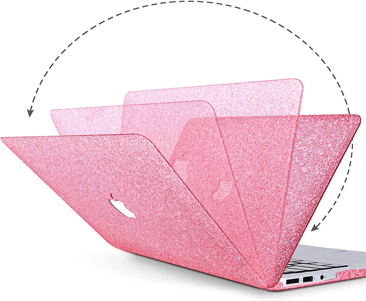 MacBook Pro 13 Case 2020 2019 2018 2017 2016 Release A2159//A1989//A1706//A1708,Anban Glitter Bling Smooth Shell Slim Snap On Case with Keyboard Cover Compatible for Newest Pro 13 with//Without Touch Bar