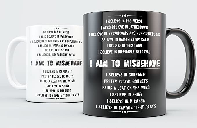 Amazon.com: Firefly Mug - Aim To Misbehave - White 11oz Ceramic: Kitchen & Dining