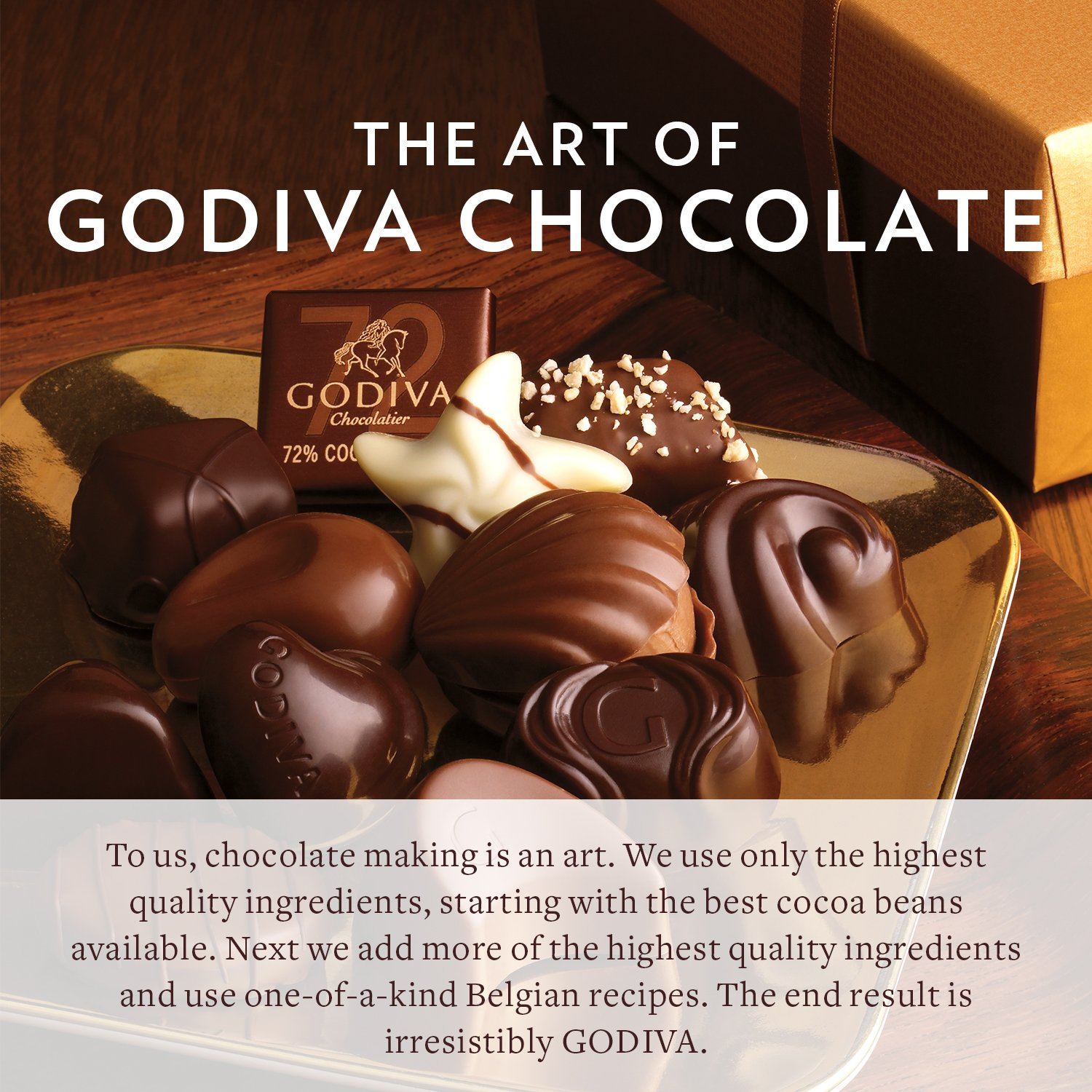 Godiva Chocolatier Assorted Dark Chocolate Truffles, Truffle Gift Box, Great as a Gift, Gifts for Her, Gifts for Mom, 24 Piece by GODIVA Chocolatier (Image #2)
