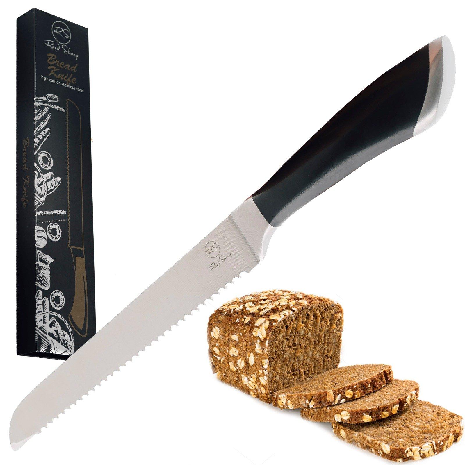 Serrated Bread Knife 8 inch :: Bread Slicer Knife :: Bread Knife, for crusty and crusted Bread:: Serrated Knife, for pastry :: Best Bread Knife, German Stainless Steel Bread Knife :: by Reed Sharp