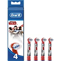 Oral-B Genuine Kids Stages Star Wars Replacement Red Toothbrush Heads, Refills for Electric Toothbrush, Suitable for Children Aged 3-6 Years, Pack of 4