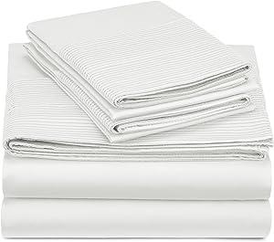 Pinzon 400-Thread-Count Egyptian Cotton Sateen Pleated Hem Sheet Set - California King, Cloud