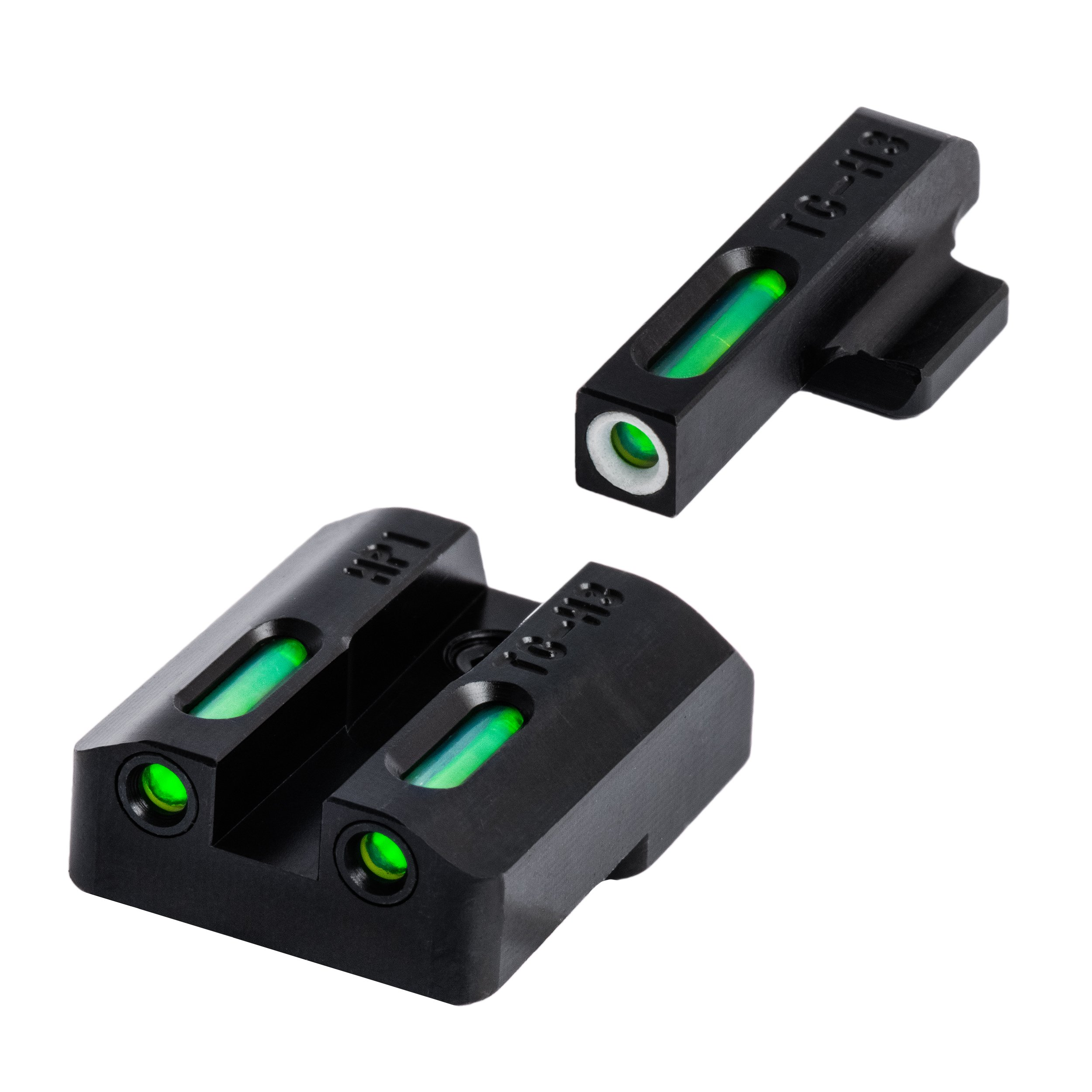 TRUGLO TFX Tritium and Fiber-Optic Xtreme Handgun Sights for H&K VP9, VP40, P30, P30SK, P30L, 45, 45 Tactical (Including Compact) by TRUGLO