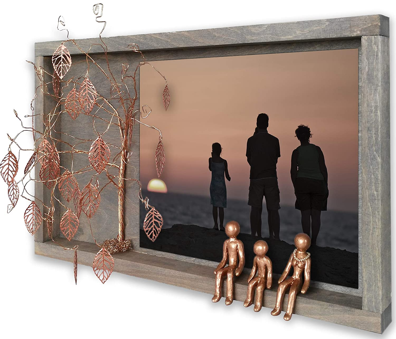 Gifts for Inlaws That Have Everything Family Picture Frame Collages for Wall 8th 19th Bronze Wedding Anniversary Grandma Willow Tree Family 4 Figurines 7 8 19 21th Year Wall Charmers Her Grandparents