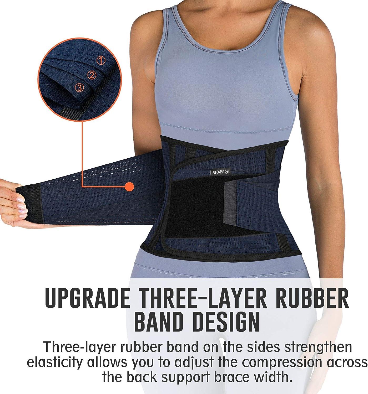 SHAPERX Mujer Cintura Entrenador Respirable Ajustable Cintura Belt Bodyshaper Cintur/ón para Hourglass Moldeador