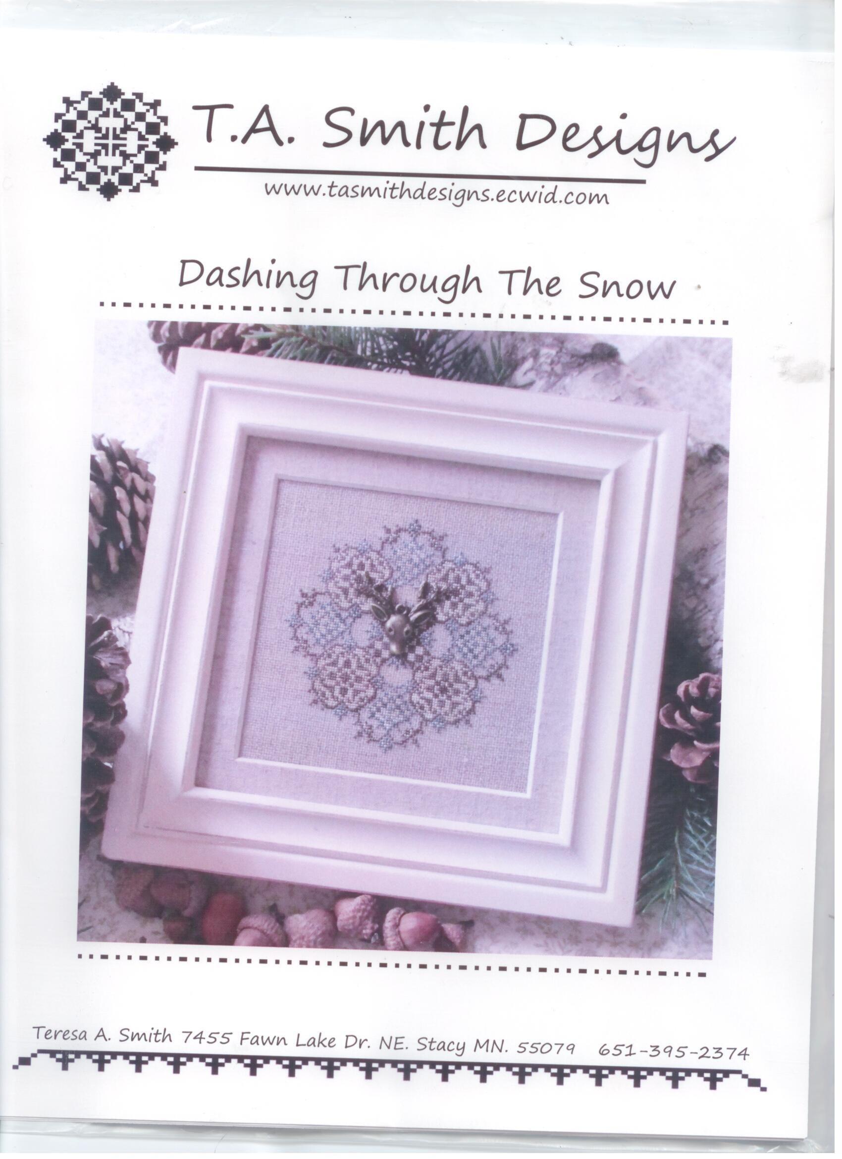 Dashing Through The Snow Cross Stitch Chart Ta Smith Designs