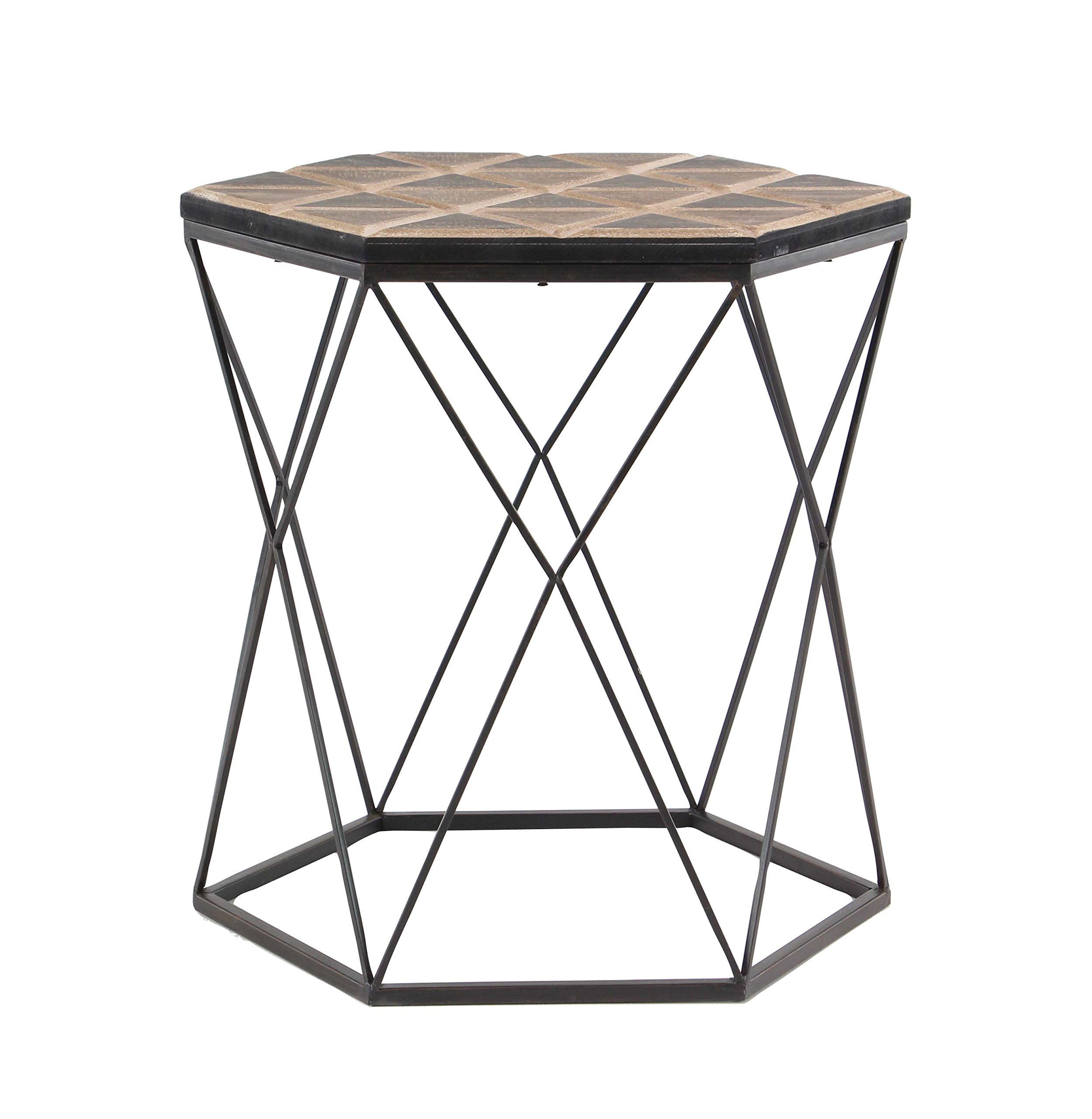 Deco 79 98748 Accent Table Brown/Gray