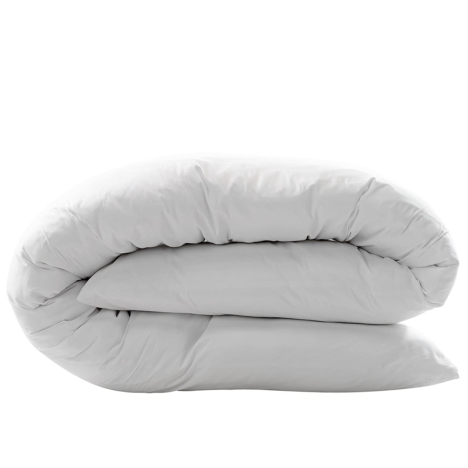 White COMIN16JU035632 Cheer Collection Hypoallergenic Down Alternative Premium 19 x 90 Total Body Pillow with Zippered Cover