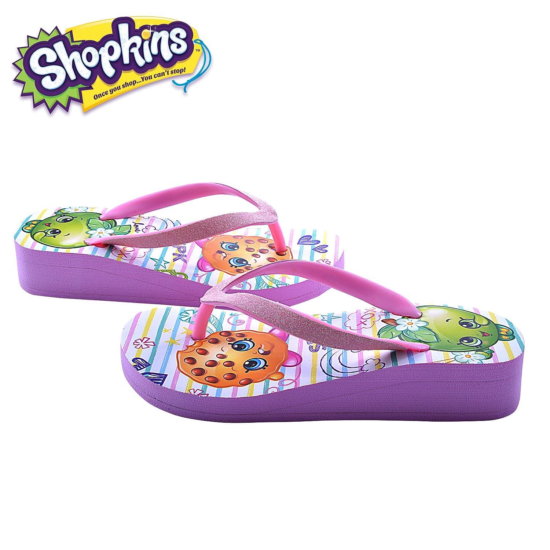 Shopkins - Cuña Eva para niñas 11 Shopkins niñas – 3 blanco blanco ...