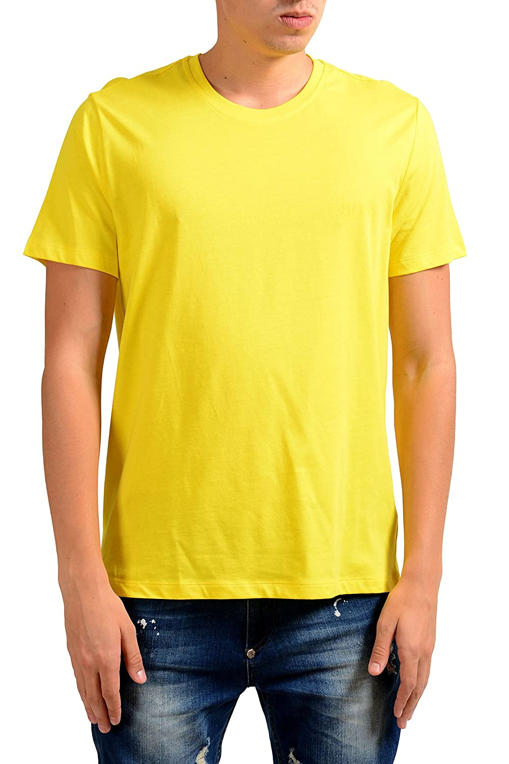 Hugo Boss T-ShirtRN24 Mens Yellow Crewneck T-Shirt US M IT 50