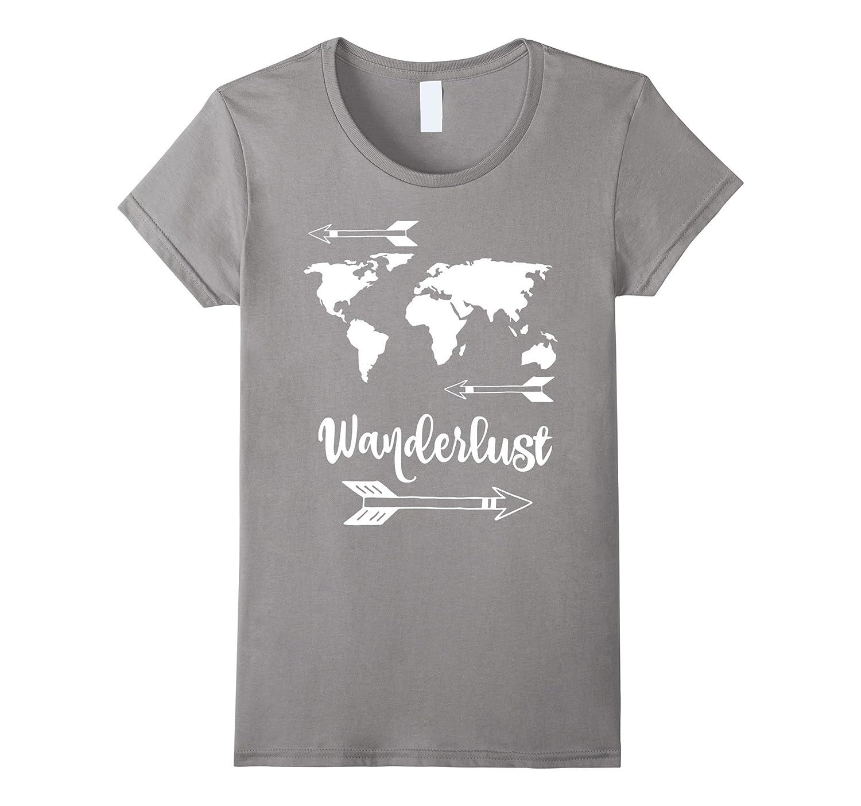 4f51909dd Amazon.com: Wanderlust Shirt - Travel World Map Adventure T-Shirt: Clothing