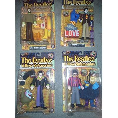 "Beatles The Yellow Submarine John Paul George Ringo 8"" Action figure Set (1999 McFarlane): Toys & Games"
